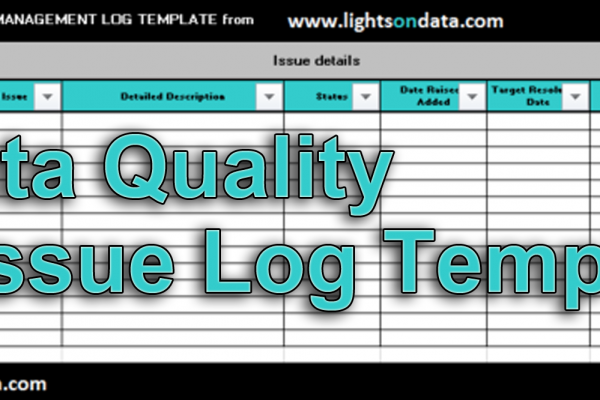 the ultimate guide to a data quality issues log lightsondata